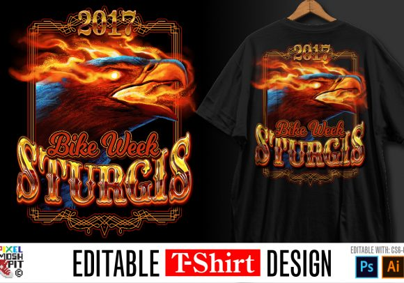 eagle, fire, burning, bike week, biker, tshirt design, design, fire, sturgis, design, template